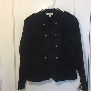 Dressbarn Navy Military style jacket